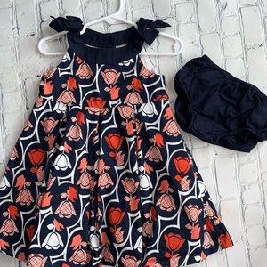 Janie and Jack Tulip Girls Sundress Dress/Bloomers